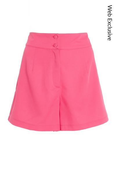 Pink High Waist Shorts